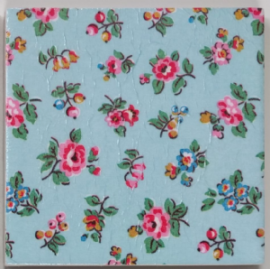 Ceramic Wall Tiles Made With Cath Kidston Highgate Ditsy Rose Blue